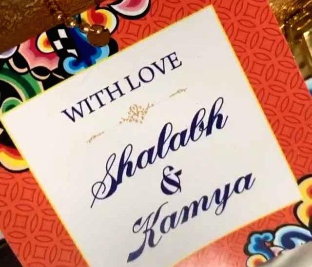 Television actress Kamya Punjabi has shared a glimpse of her and her to-be husband Shalabh Dang's wedding card. - Kamya Punjabi