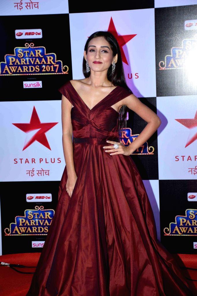 Television actress Tanya Sharma during the red carpet of Star Parivaar Awards 2017 in Mumbai on May 13, 2017. - Tanya Sharma