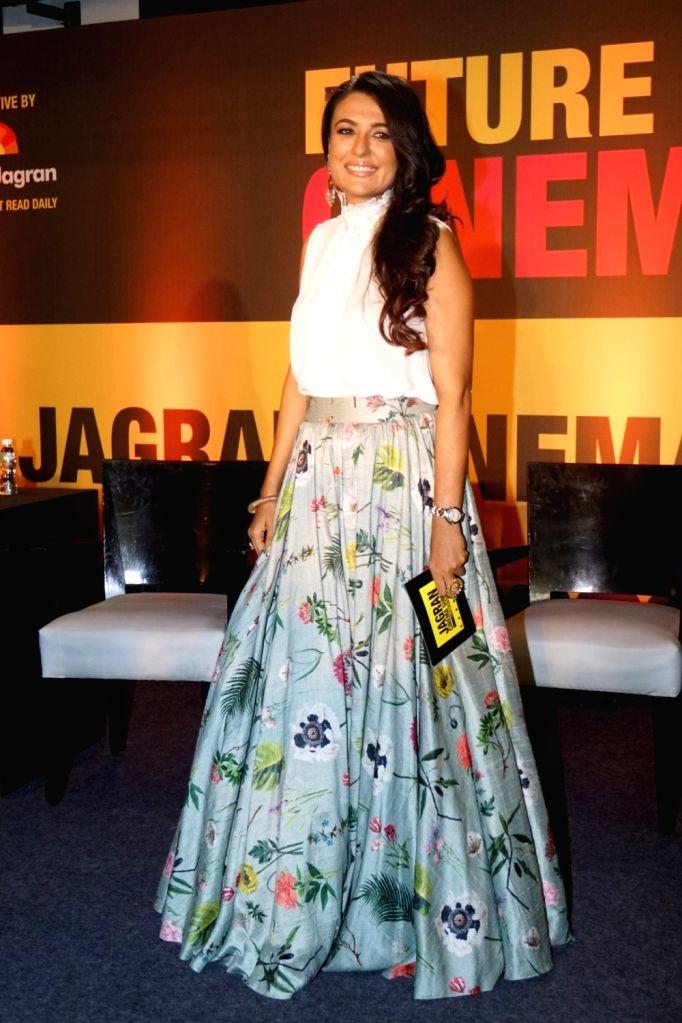 "Television host and Actress Mini Mathur during the ""Jagran Cinema Host Summit"" to Discuss Future of Film in Mumbai on Sept 15, 2017. - Mini Mathur"