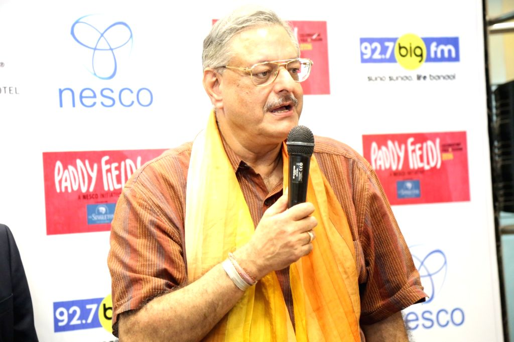 Television producer and anchor Siddharth Kakduring the press conference of India's first ever Folk and Fusion music Festival - Paddy Fields, in Mumbai on Oct 12, 2016.