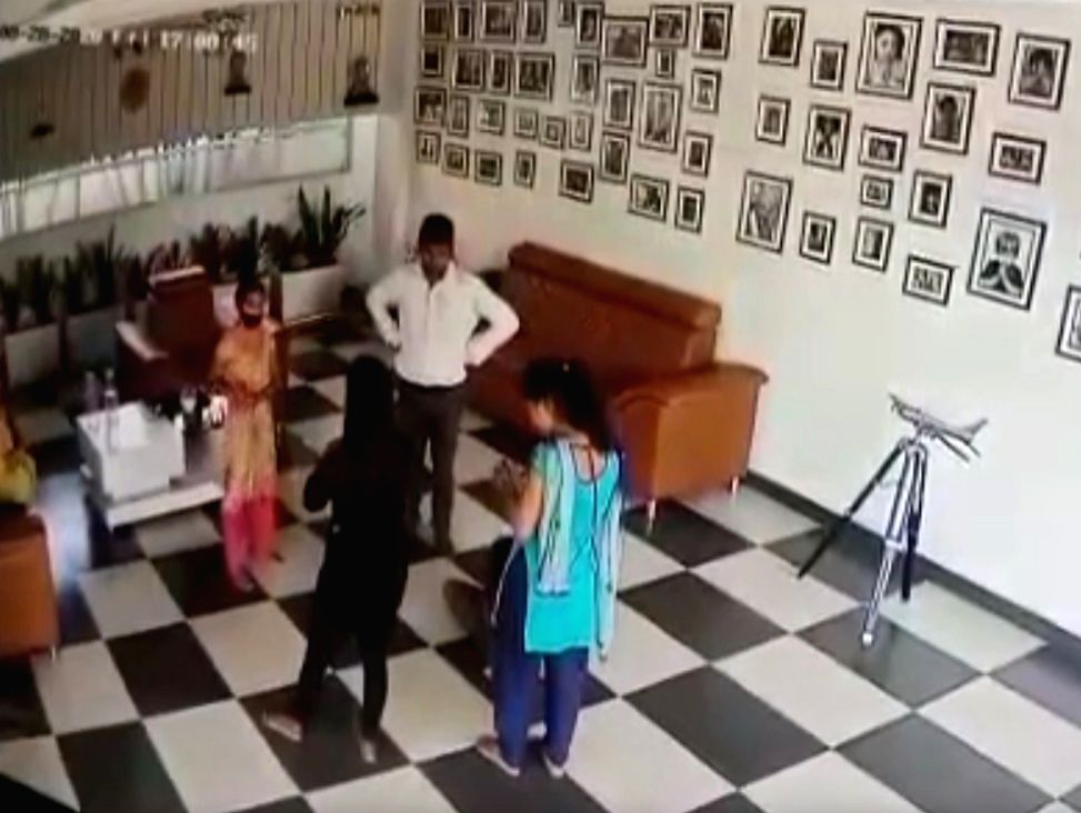 Telugu 'Big Boss' fame Nutan Naidu's wife held for tonsuring Dalit youth. - Nutan Naidu