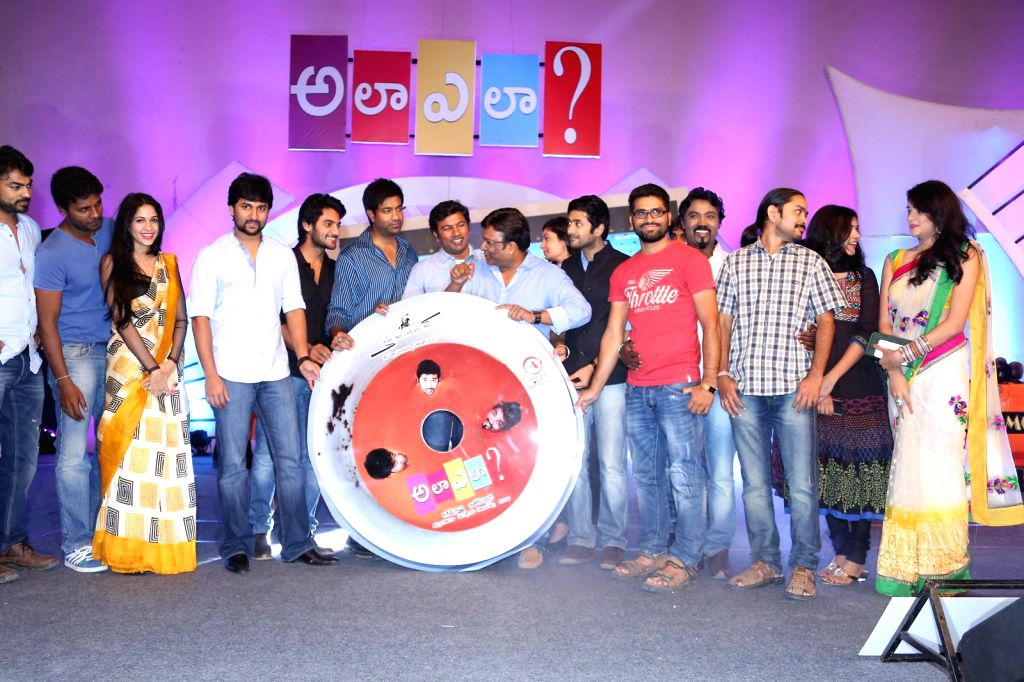 Telugu film Ala Ela film audio release function. (Photo: IANS).