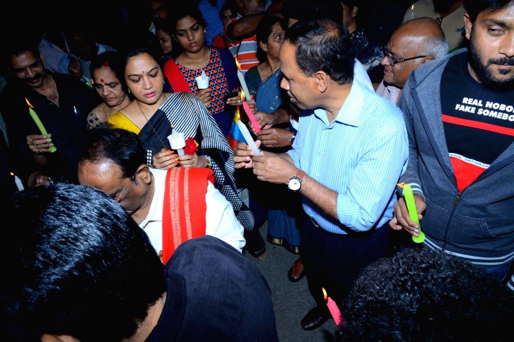 Telugu Film Industry 'Disha' Candle Rally Event Photos.