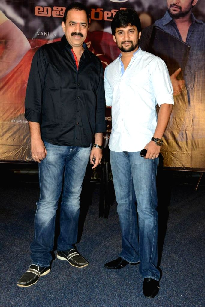 Telugu film `Janda Pai Kapiraju` Press Meet held at Hyderabd. (Photo: IANS).