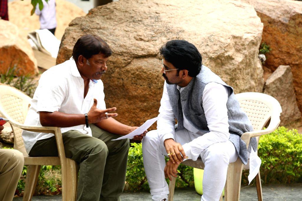 Telugu film Nakshatram working stills