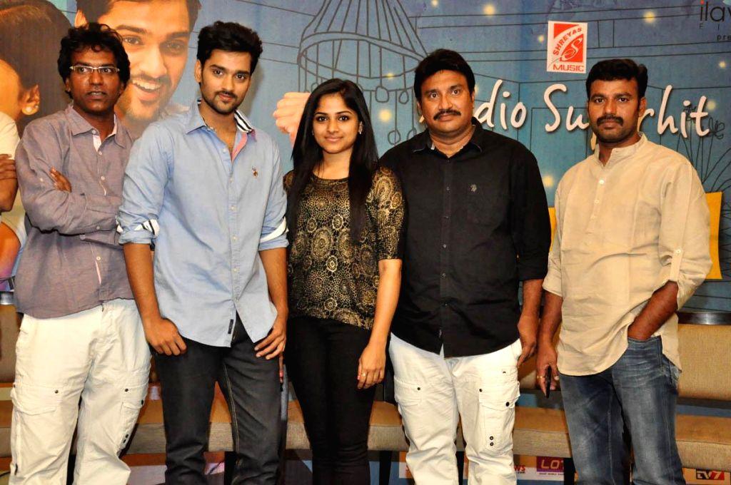 Telugu movie `Chakkaliginta` press meet.