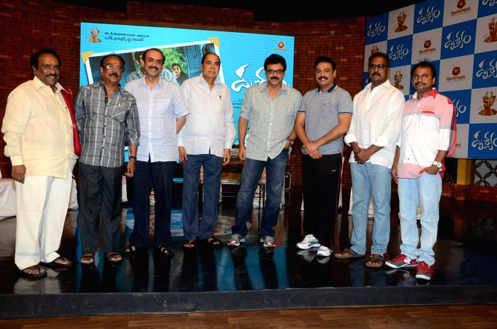 Telugu movie `Drushyam` press meet.
