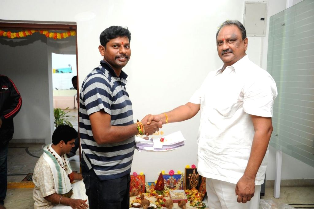 Telugu movie `Puli Raj IPS` pooja.