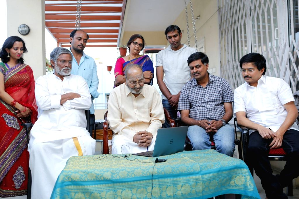 Telugu movie Viswadarsanam movie launch by K Viswanath on his birthday in Hyderabad