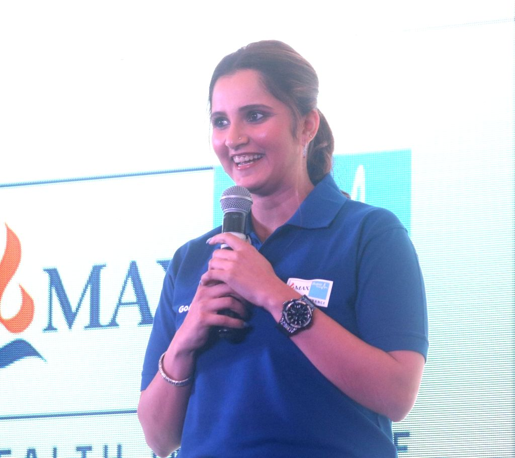 Tennis player Sania Mirza addresses during the launch of a health insurance plan in New Delhi on Feb 13, 2018. - Sania Mirza