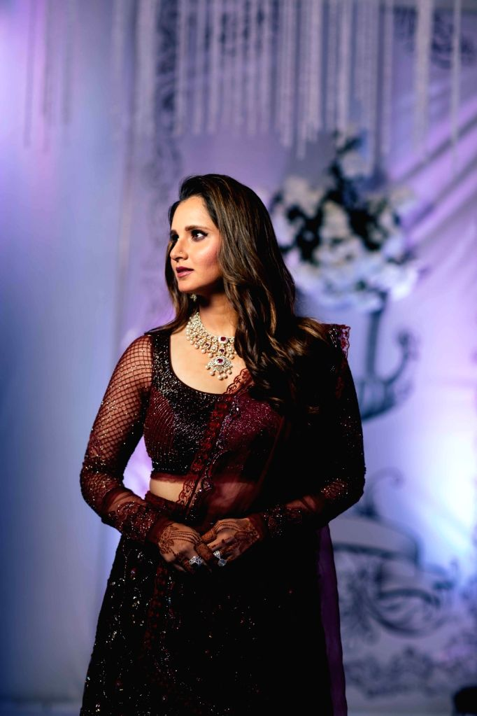 Tennis player Sania Mirza at her sister Anam Mirza's wedding reception in Hyderabad on Dec 12, 2019. - Sania Mirza and Anam Mirza