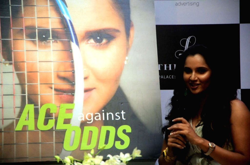 """Tennis player Sania Mirza at the launch of her autobiography """"Ace Against Odds"""" in Mumbai on July 17, 2016. - Sania Mirza"""