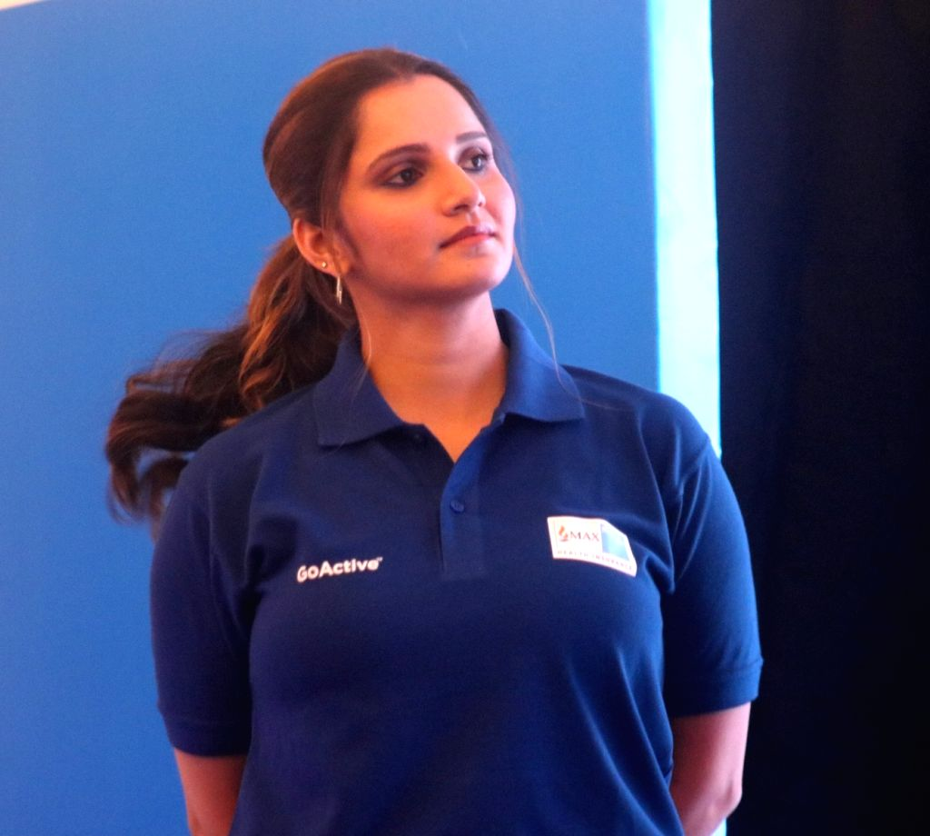 Tennis player Sania Mirza during the launch of a health insurance plan in New Delhi on Feb 13, 2018. - Sania Mirza