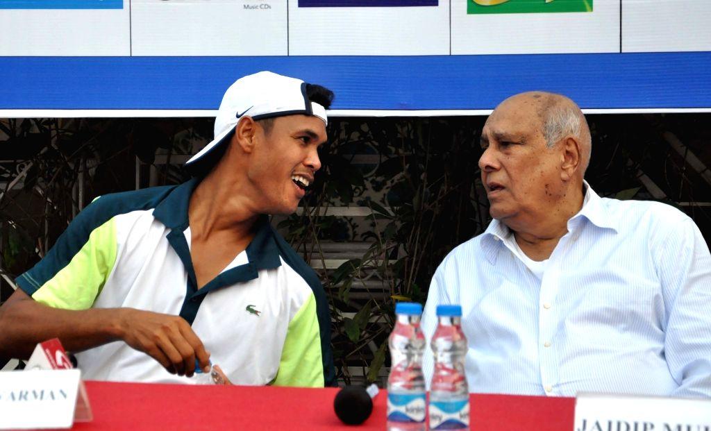 Tennis player Somdev Devvarman during a press conference in Kolkata on Dec 5, 2019.