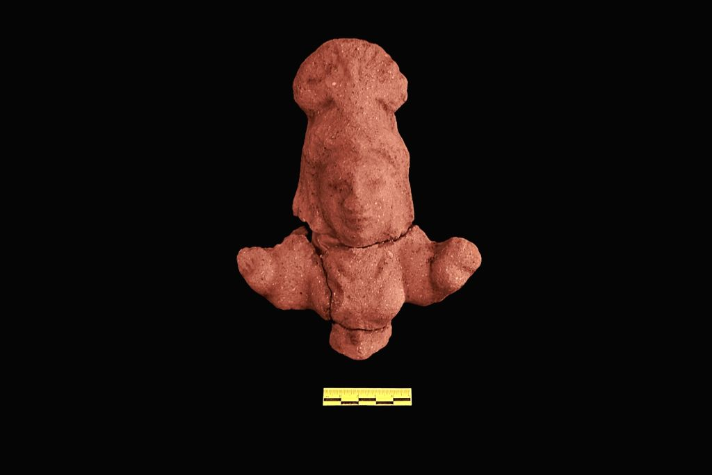 Terracotta female figurine.