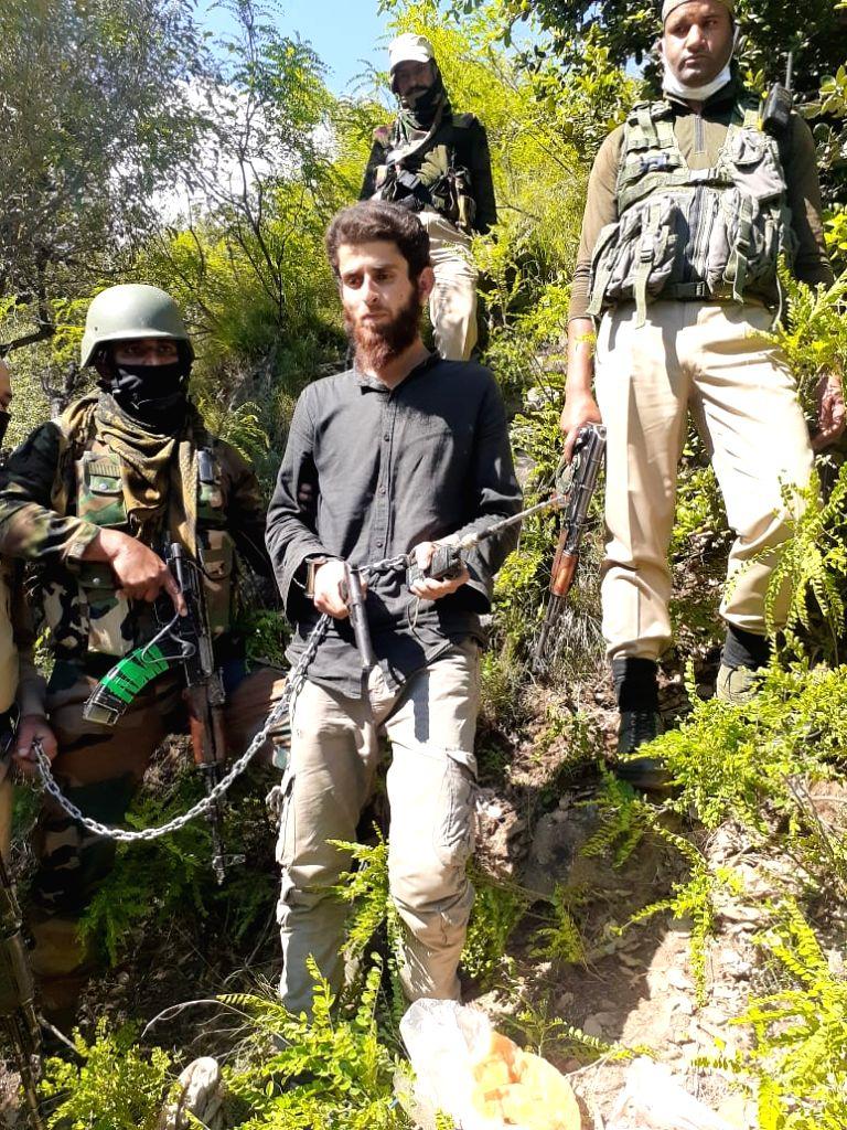 Terrorist sympathiser arrested from Doda J&K. (Photo: Zaffar Iqbal IANS)