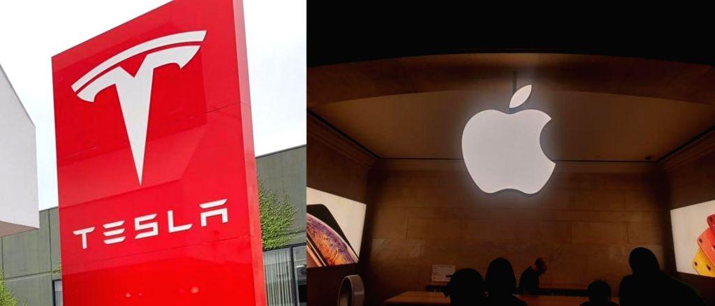 Tesla and Apple.
