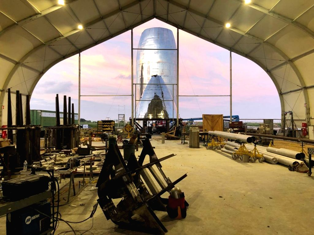 Tesla and SpaceX CEO Elon Musk has posted two new pictures on Twitter showing the latest construction updates for the Starship rocket prototype that is being built at SpaceX's Boca Chica, Texas facility. (Photo Courtesy: Twitter/@elonmusk)