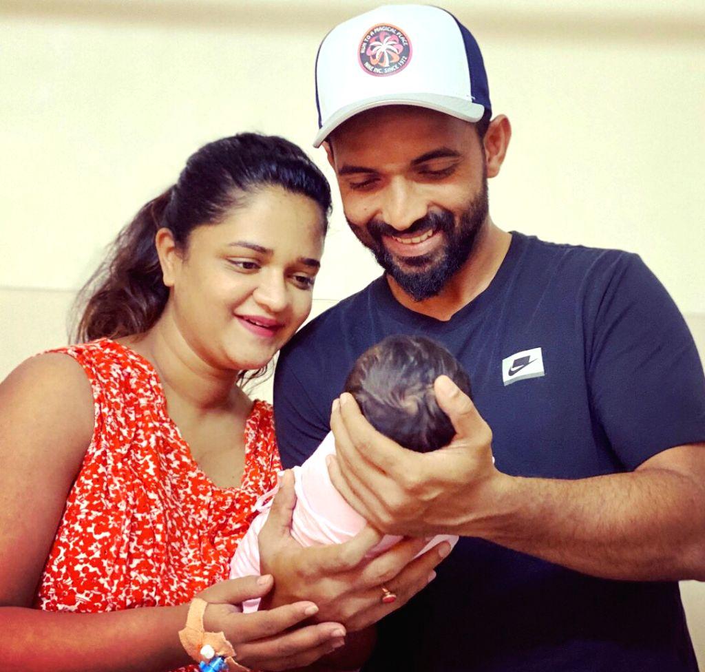 Test vice-captain Ajinkya Rahane recently became the proud father of a baby girl. - Ajinkya Rahane