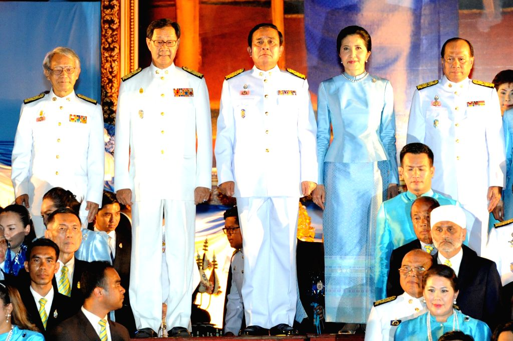 Thai Prime Minister Prayuth Chan-ocha (C) hosts an event celebrating Queen Sirikit's 83rd birthday at the Sanam Luang square in Bangkok, Thailand, Aug. 12, 2015. ... - Prayuth Chan