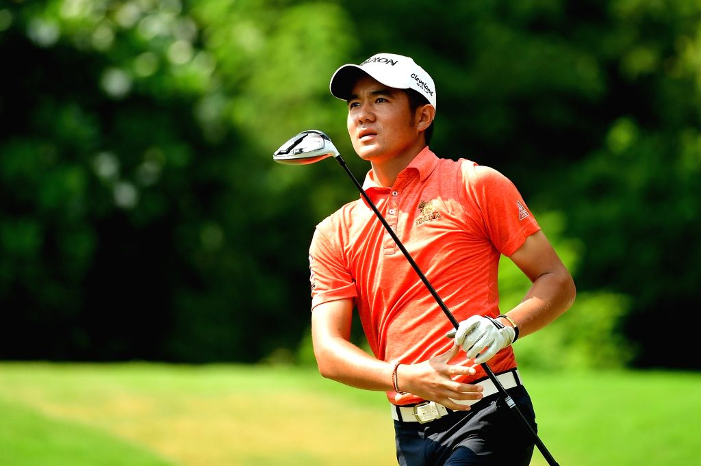 Thailand's Kosuke Hamamoto in action during the Classic Golf & Country Club International Championship in Gurugram on Sep 13, 2019.