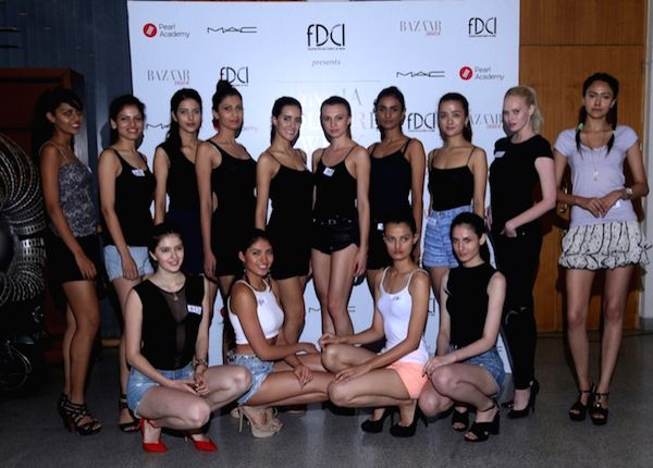 The 14 shortlisted models for the upcoming FDCI India Couture Week 2016 in New Delhi on July 2, 2016.