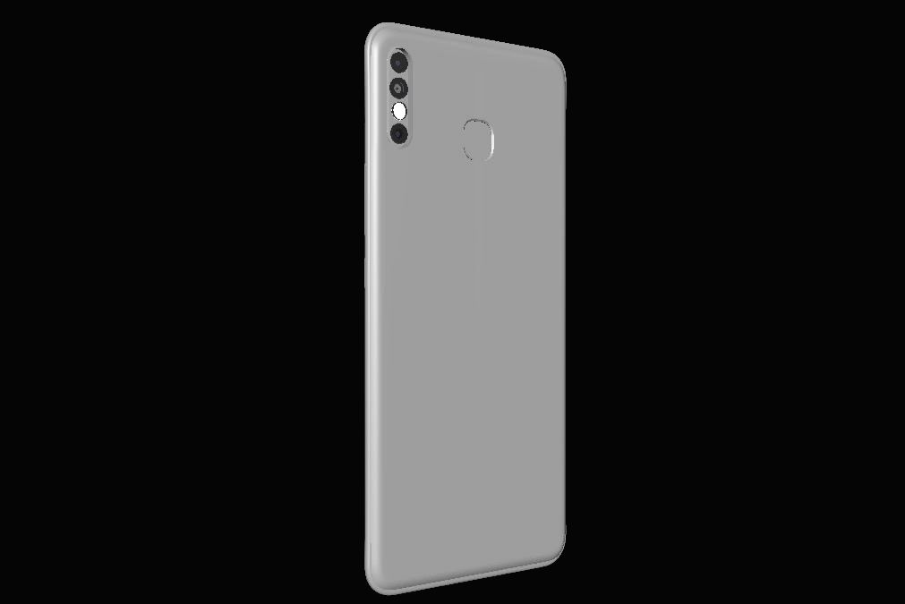 The 3D greyscale leaked images of Infinix HOT 8.