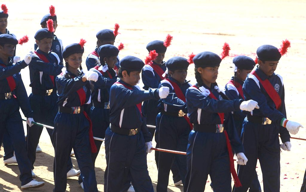The 71st Republic Day parade underway at Manekshaw Parade Ground in Bengaluru on Jan 26, 2020.
