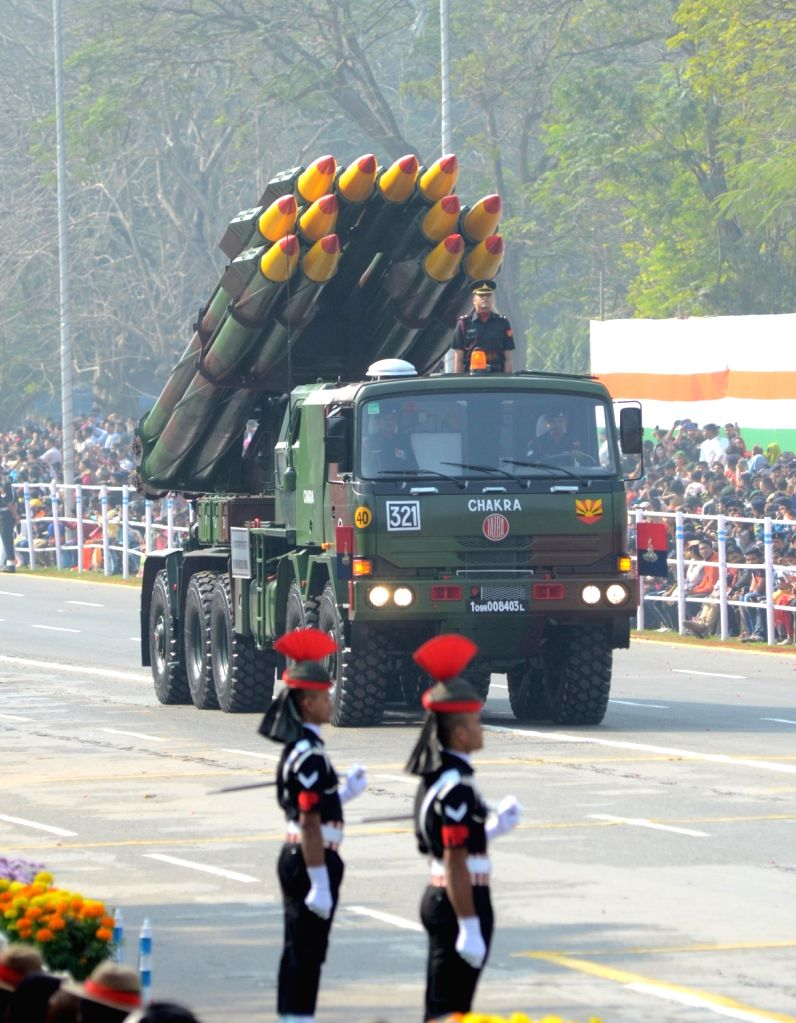 The 71st Republic Day parade underway at Red Road during  in Kolkata on Jan 26, 2020.