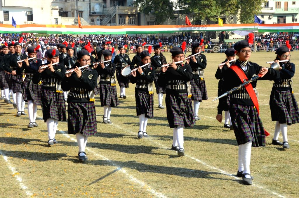 The 71st Republic Day parade underway in Amritsar on Jan 26, 2020.