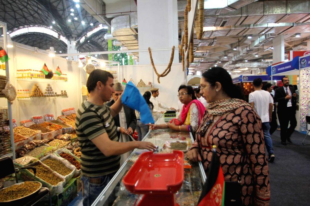 The Afghani pavilion at the 35th India International Trade Fair (IITF) 2015, Pragati Maidan in New Delhi, on Nov 14, 2015.
