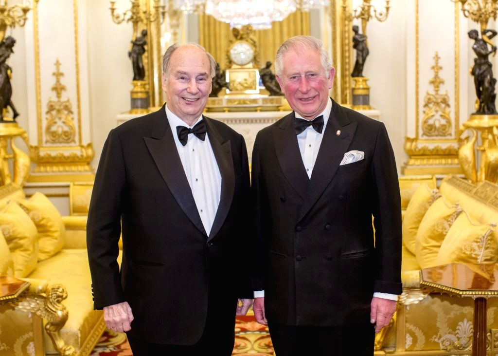 The Aga Khan (Left) with The Prince of Wales (Right). - The Aga Khan