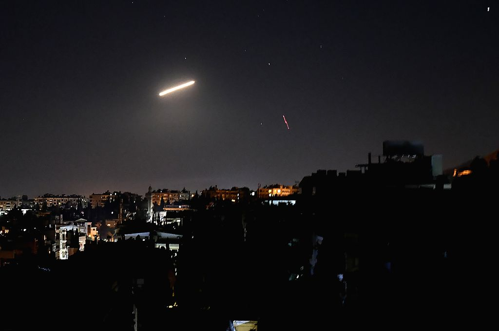 The air defense intercepted several missiles, and the exact targets are not clear, it said.
