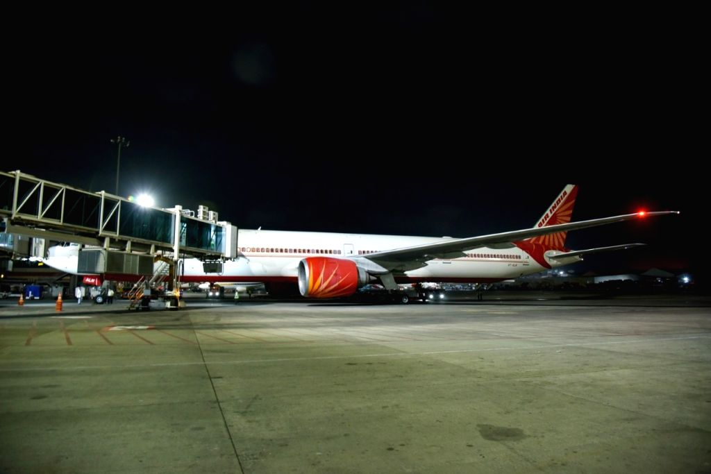The Air India flight from London to Mumbai with 329 passengers.