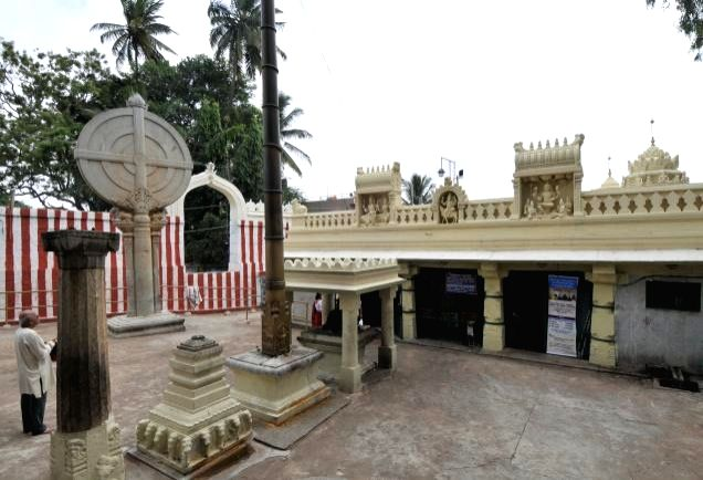 The annual spectacle of 'Surya Majjana' or 'Suryabhisheka' (Sun Ablution) that was to occur in Bengaluru's famous centuries-old Gavi Gangadhareshwara temple did not occur this time as cloudy weather set in just 20 minutes before the scheduled timing