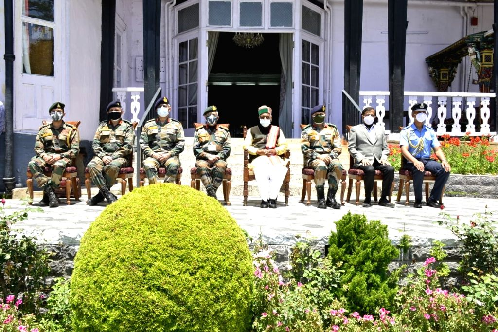 The Army Chief calls on the Himachal Pradesh Governor in Shimla on Friday
