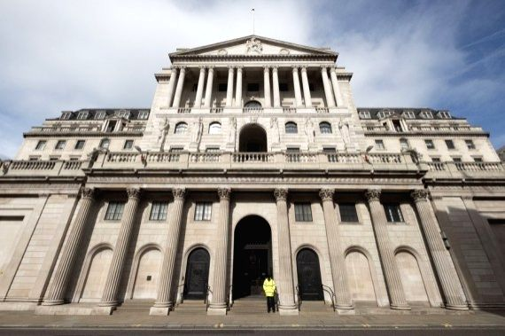 The Bank of England in London, Britain.
