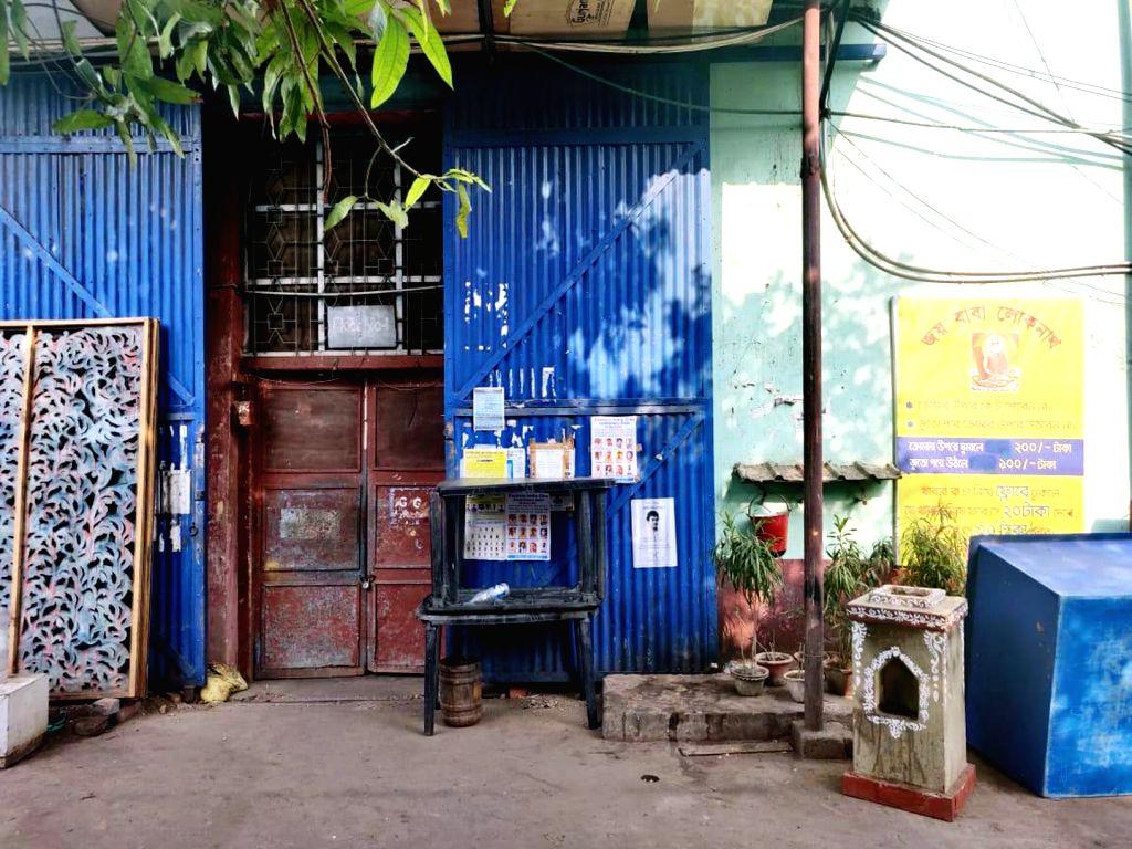 The Bharat Laxmi Studio bears a deserted look amid COVID-19 (cornavirus) pandemic, in Kolkata on March 18, 2020.