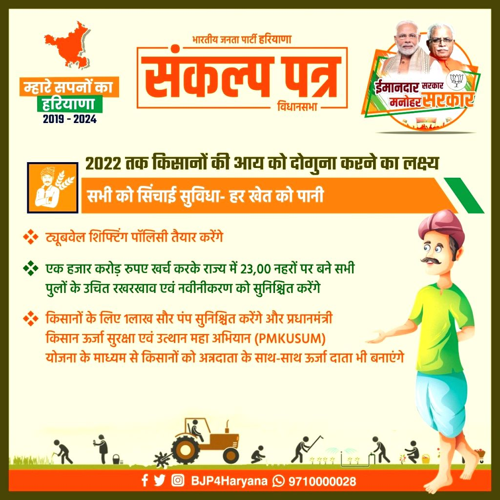 "The Bharatiya Janata Party (BJP) on Sunday released its manifesto for the October 21 Haryana Assembly polls with no promises to waive farm debt or job reservations for women, saying it is more realistic and practical than its rival Congress' ""populis"