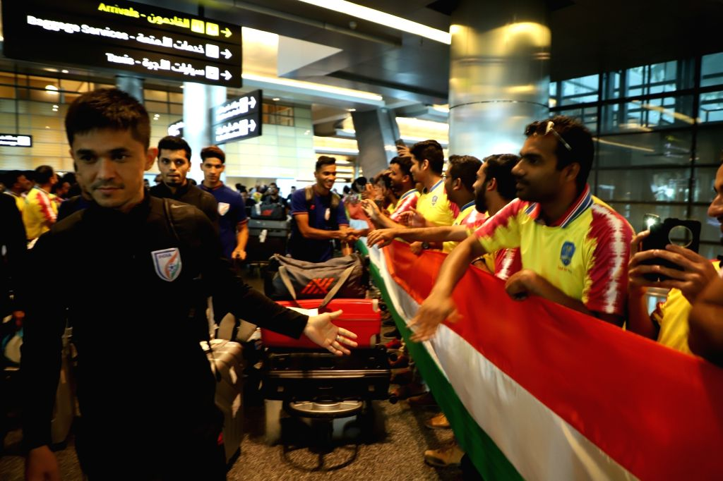 The Blue Tigers arrived in Doha ahead of their second match of the FIFA World Cup Qatar 2022 and AFC Asian Cup China 2023 joint qualifiers Round 2, on Sep 7, 2019.