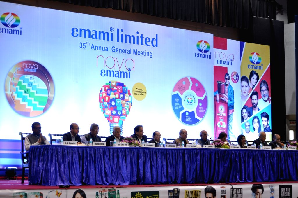 The Board of Directors at the Annual General Meeting (AGM) of Emami Limited, in Kolkata, on Aug 1, 2018.