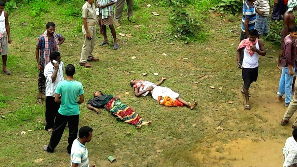 The bodies of passengers killed in Angul bus accident in Odisha on Sept 9, 2016. Reportedly 16 people were killed in the accident.