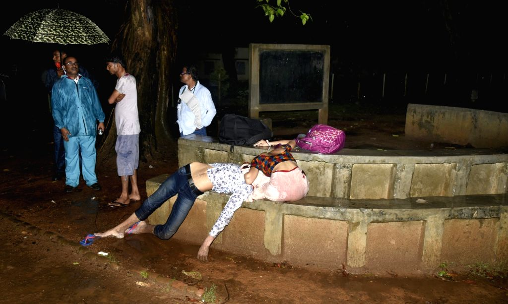 The bodies of two outsiders - believed to be a couple - that were recovered from Visva-Bharati campus in Bolpur of West Bengal's Birbhum districton May 4, 2019. The deceased have been ...