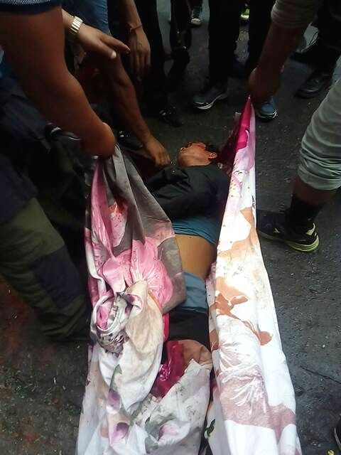 The body of one of the GJM supporter who was killed during Gorkha Janamukti Morcha (GJM) indefinite shutdown in the northern Bengal hills; in Darjeeling on June 17, 2017. GJM claimed two ...