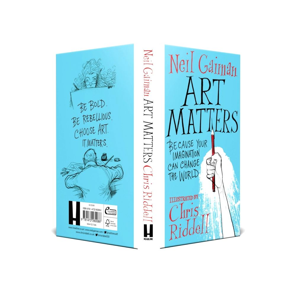 The book cover of Art Matters by Neil Gaiman.