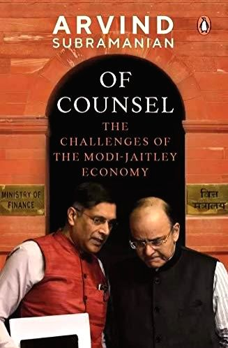 :The Book cover of Of Counsel- The Challenges of Modi-Jaitley Economy..