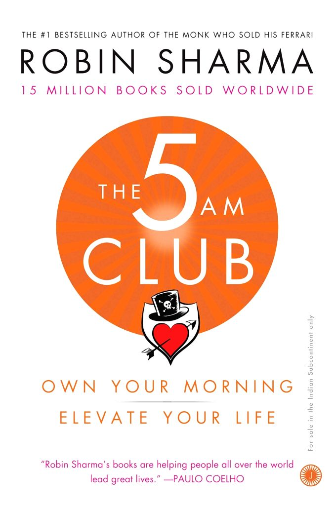 "The book cover of ""The 5 AM Club: Own Your Morning -Elevate Your Life""."