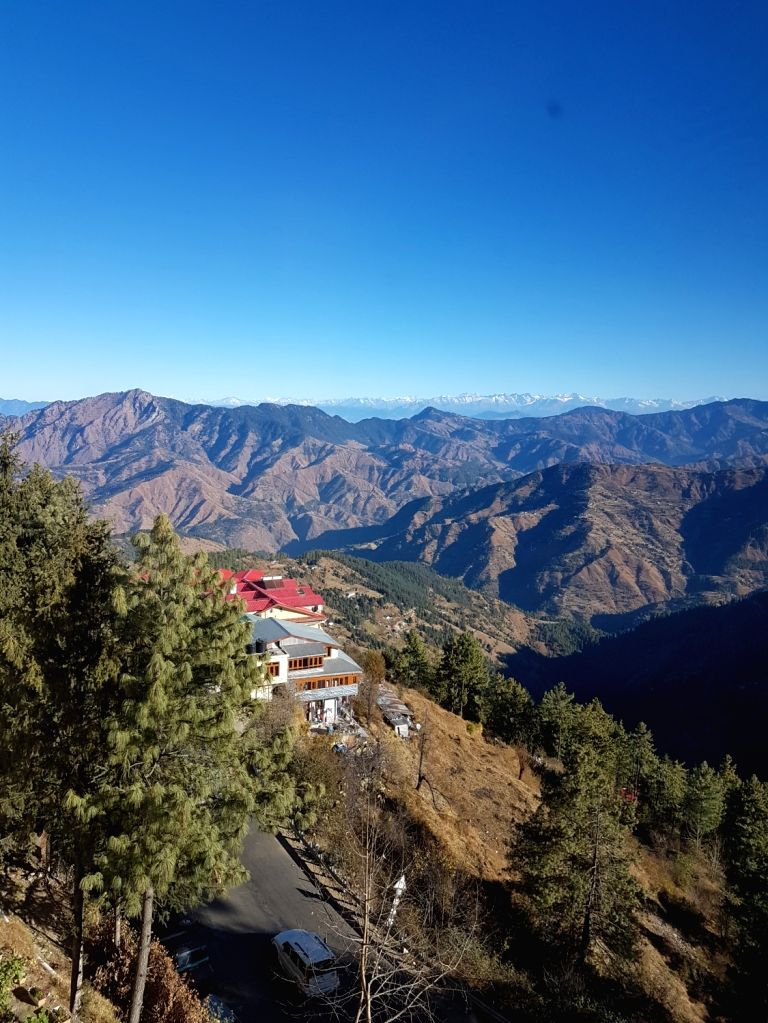 The breath-taking view of the majestic Himalayan peaks from the Royal Tulip Resort in Kufri-Himachal Pradesh.