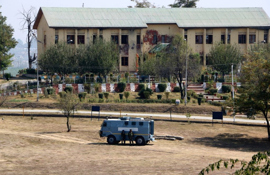 The BSF camp near the highly secured Srinagar international airport that was stormed by suicide attackers of Pakistan-based Jaish-e-Mohammed terror outfit carrying guns and explosives on ...