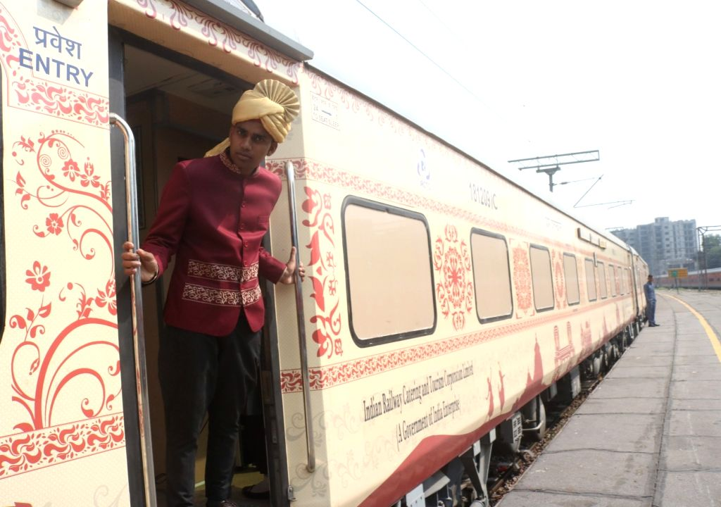 The Buddhist Circuit special train reintroduced by the Indian Railways, during media preview at Safdarjung railway station in New Delhi on Oct 18, 2019.